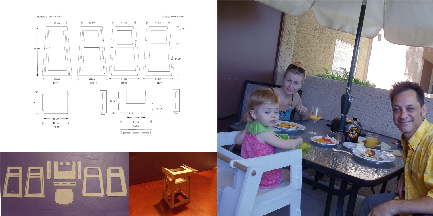 One day I needed to build my daughter a high chair.