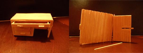 When I was 10 I used to make furniture and buildings out of toothpicks...